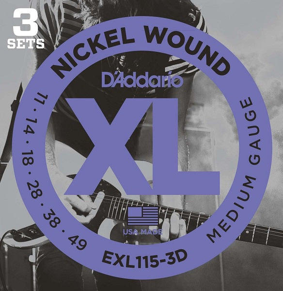 D'Addario EXL115-3D Medium (3 Pack) 11- 49