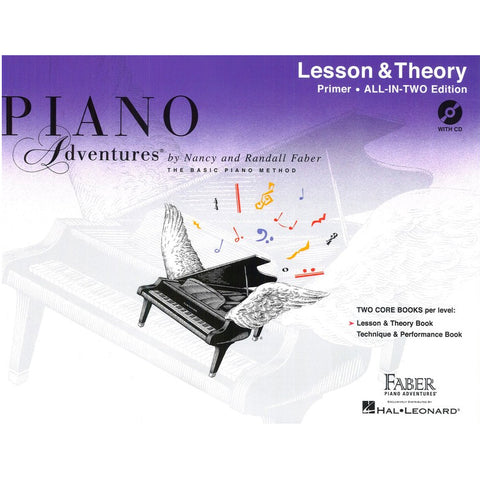 Piano Adventures All-In-Two Primer Level - Lesson and Theory Book / CD