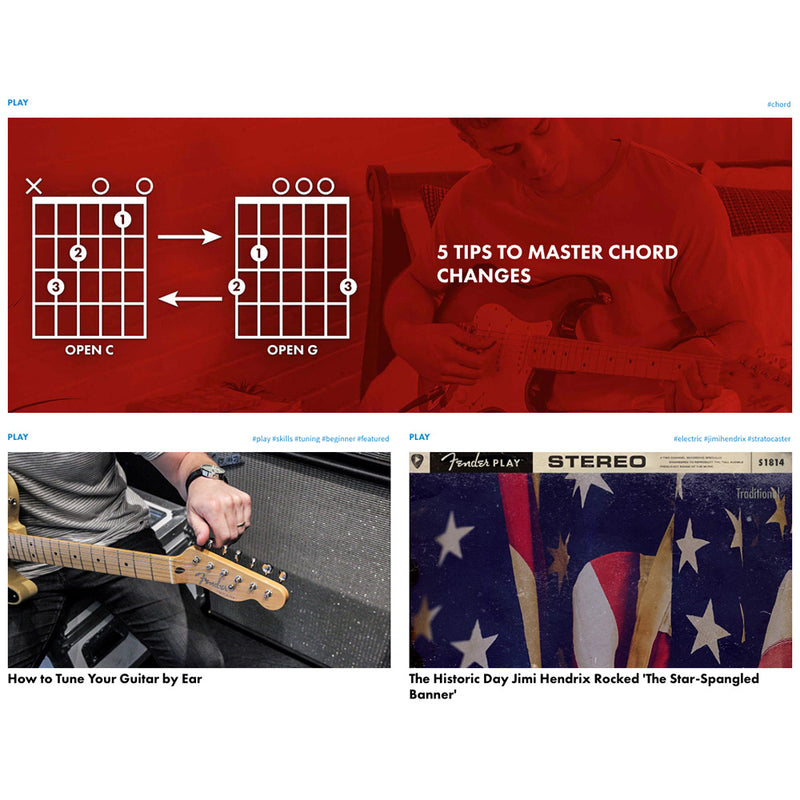 Fender Play 3 Month Pre-Paid Lesson Subscription
