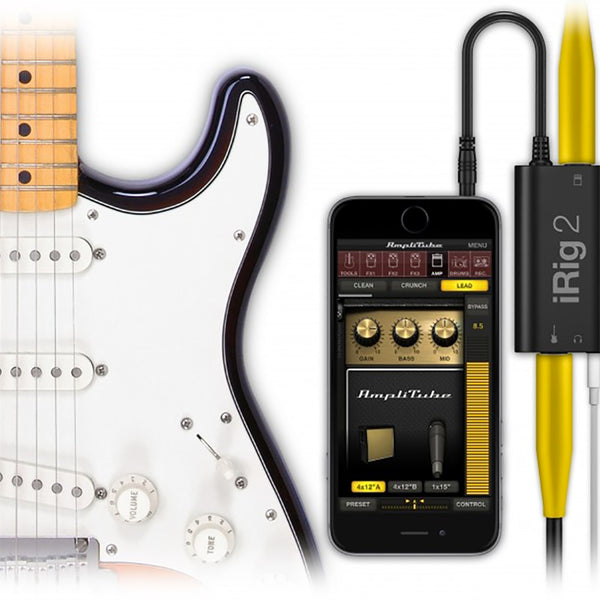 IK Multimedia IRig 2 Guitar Interface for iPad & iPhone