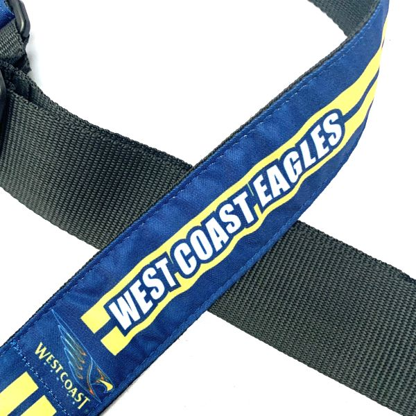 Colonial Leather AFL Guitar Strap -West Coast Eagles
