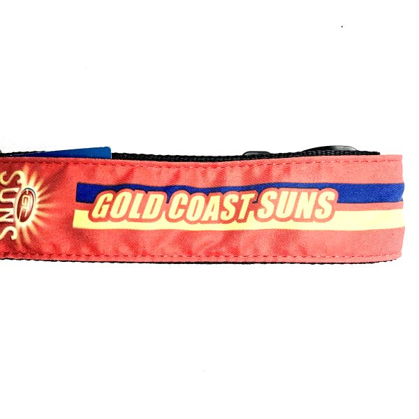 Colonial Leather AFL Guitar Strap -Gold Coast Suns