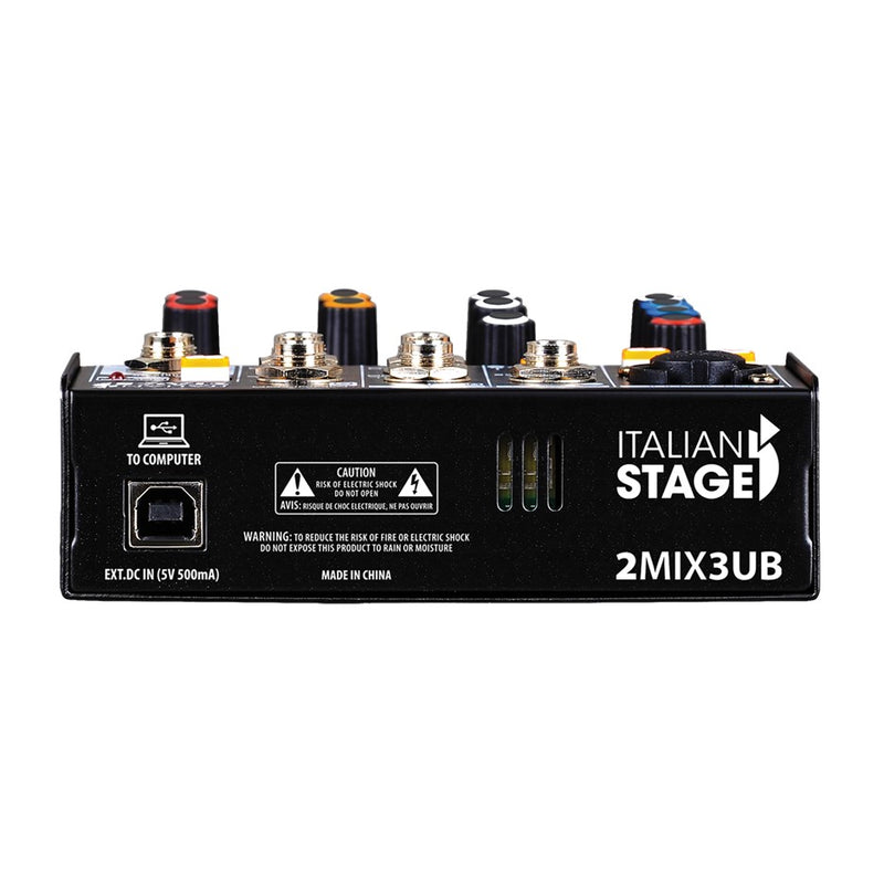 Italian Stage 2Mix3UB Stereo Audio Mixer w/usb and bluetooth