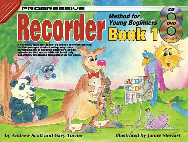 Progressive Recorder Book 1 for Young Beginners Book/CD/DVD