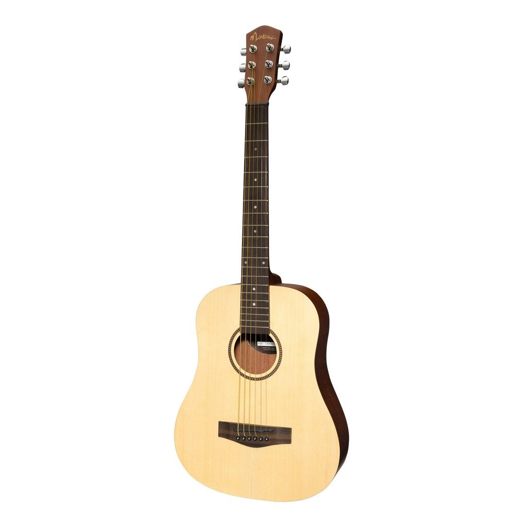 Martinez Spruce Top Acoustic Babe Travel Guitar (Natural Satin)