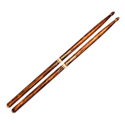 Promark Firegrain Classic 7A Flame Tempered Hickory Drumsticks Wood Tip