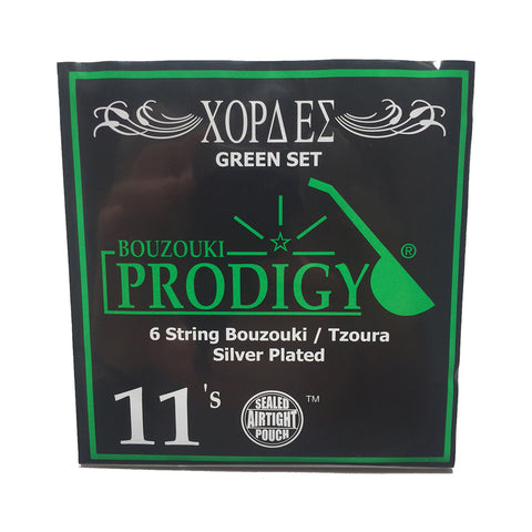 Prodigy Green 6 String Bouzouki & Tzoura Strings