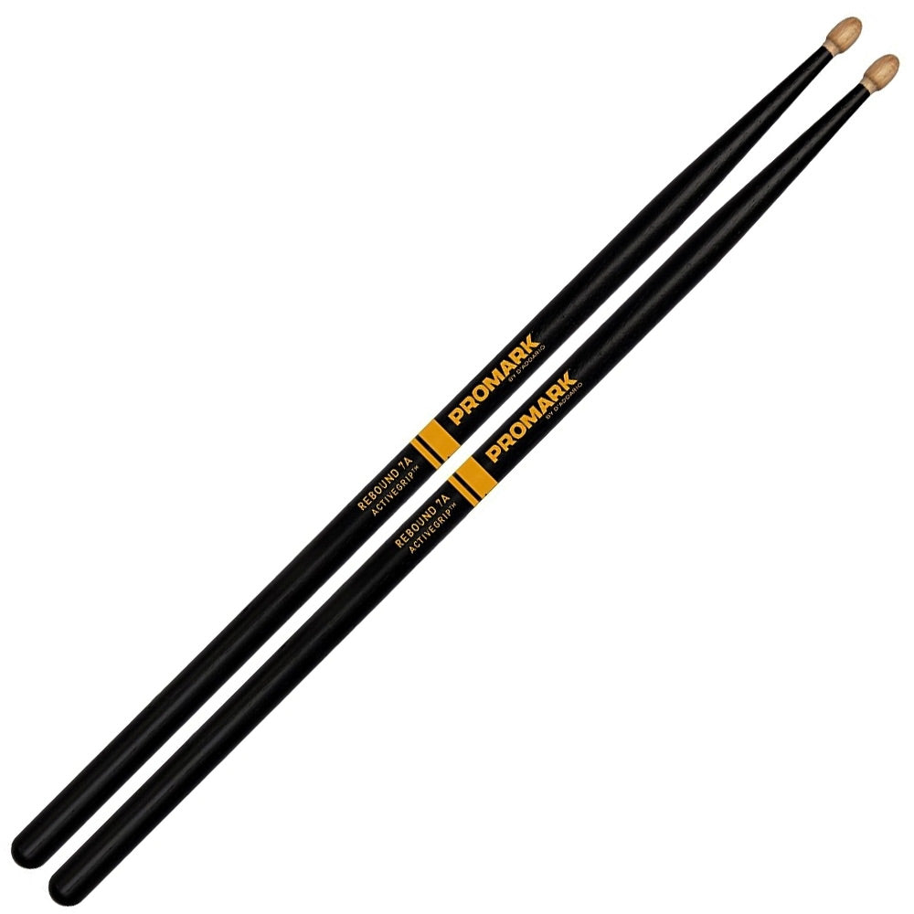 Promark Rebound 7A Active Grip Drumsticks Wood Tip