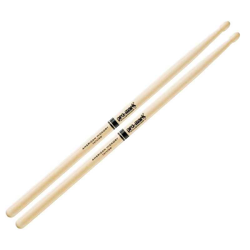 Promark 747 American Hickory Drumsticks Wood Tip