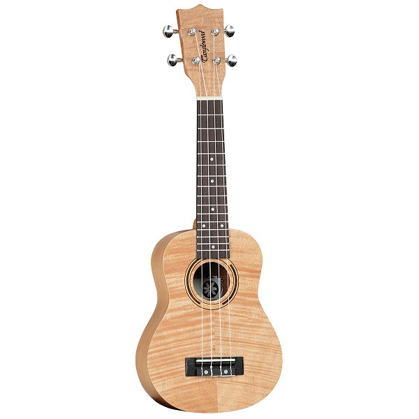 TANGLEWOOD TWT5B TIARE SOPRANO UKULELE ALL FLAME MAHOGANY WITH BAG