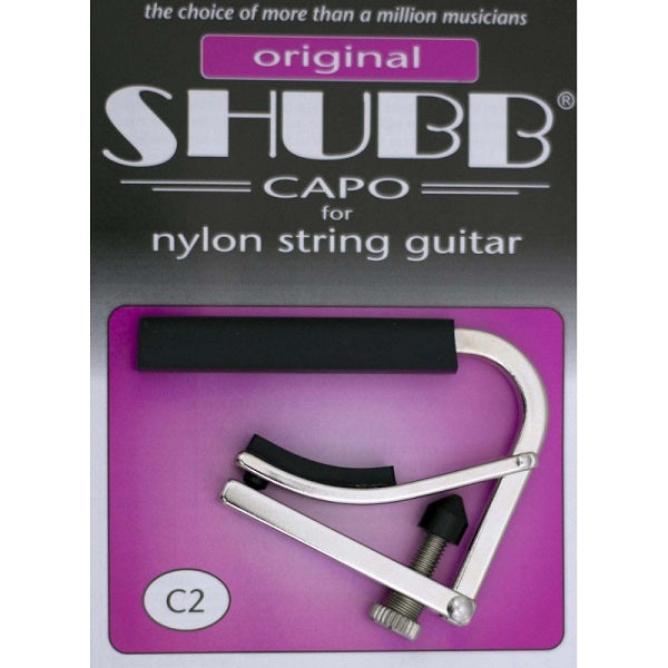 Shubb C2 Standard Classical Guitar Capo - Polished Nickel
