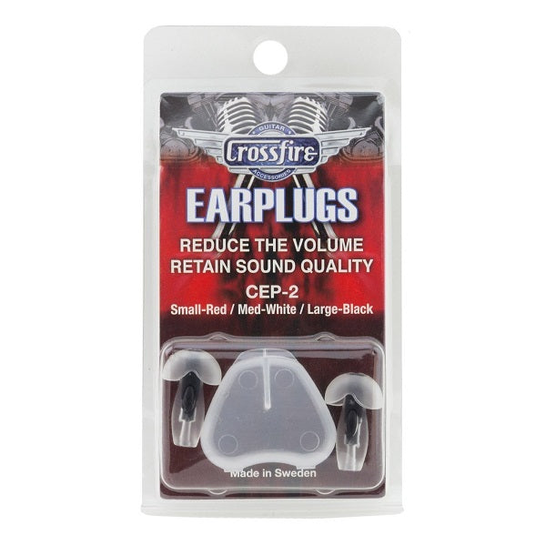 Crossfire Deluxe Earplugs - Large (Black)