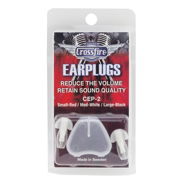 Crossfire Deluxe Earplugs - Medium (White)