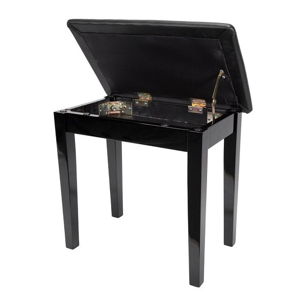 Crown CPS-2S Piano Bench w/ Compartment - Black
