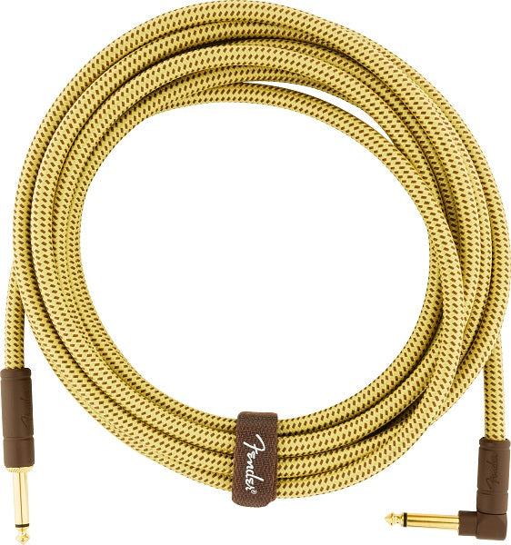 Fender Deluxe Series Angled Instrument Cable - Tweed