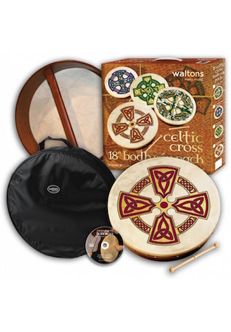 "Waltons 18"" Bodhran Pack - Kilkenny Cross Design"