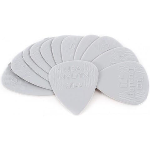 Dunlop .60mm Grey Nylon Pick Pack - 12 Picks