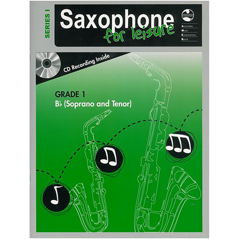 AMEB Saxophone for Leisure Series 1 Grade 1 Book / CD B Flat