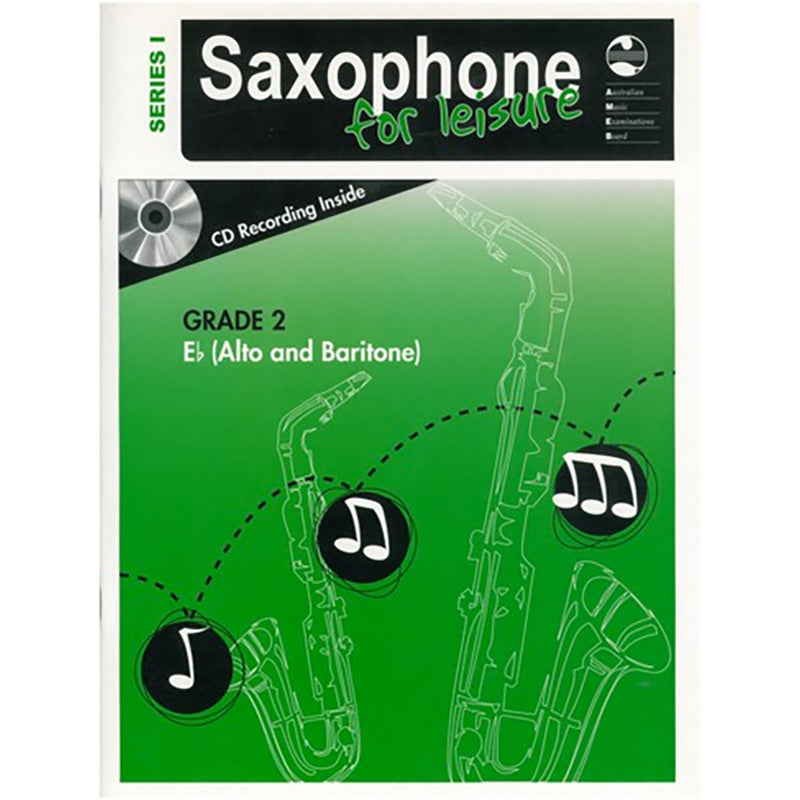 AMEB Saxophone for Leisure Series 1 Grade 2 Book / CD E Flat