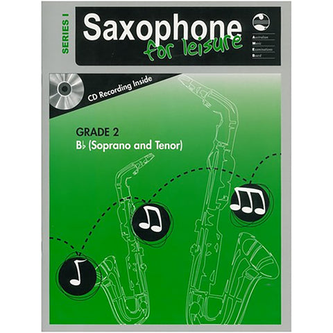 AMEB Saxophone for Leisure Series 1 Grade 2 Book / CD B Flat