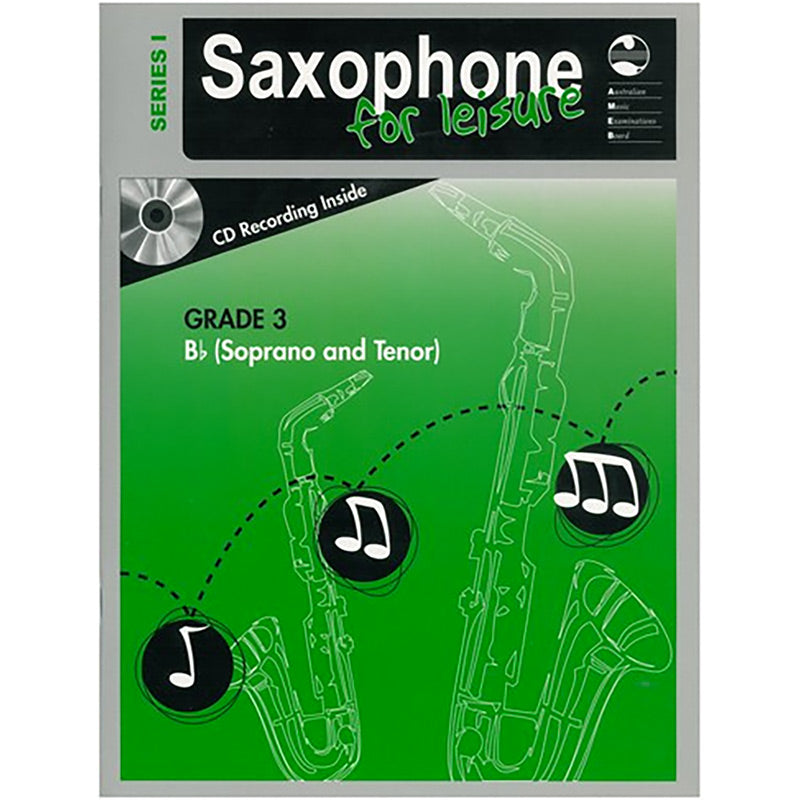 AMEB Saxophone for Leisure Series 1 Grade 3 Book / CD B Flat