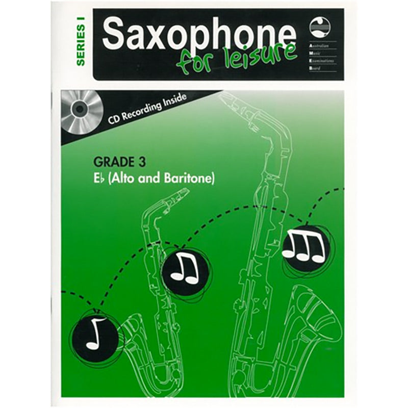 AMEB Saxophone for Leisure Series 1 Grade 3 Book / CD E Flat