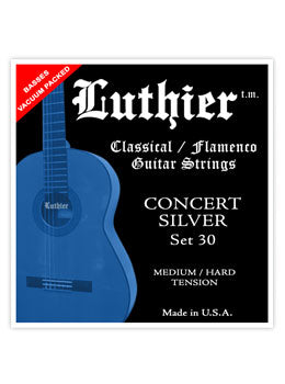 Luthier #30 Concert Silver Nylon Set - Medium/Hard Tension - INTRODUCTORY SPECIAL