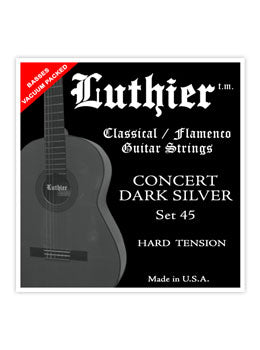 Luthier #45 Concert Dark Silver Nylon Set - Hard Tension - INTRODUCTORY SPECIAL
