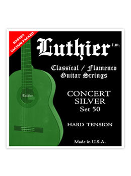Luthier #50 Concert Silver Nylon Set - Hard Tension - INTRODUCTORY SPECIAL