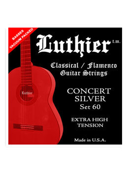 Luthier #60 Concert Silver Nylon Set - Extra High Tension - INTRODUCTORY SPECIAL