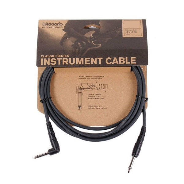 D'Addario 10 foot Classic Series Instrument Cable Right Angle