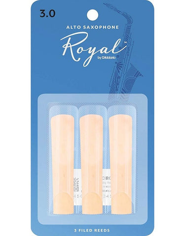 Rico Royal Alto Sax Reeds -3 Pack (ALL STRENGTHS)