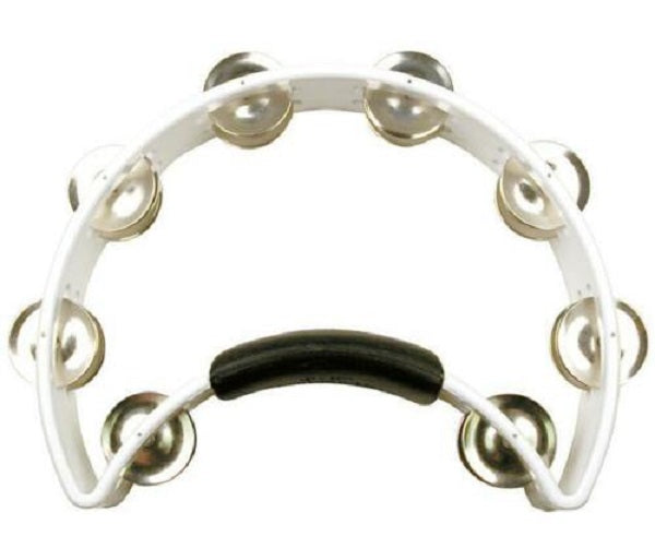 Rhythm Tech RT1020 Original Tambourine w/ Nickel Jingles, White