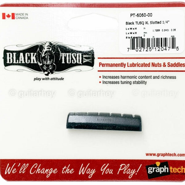 Graph Tech Black TUSQ XL Epiphone Style Slotted Nut