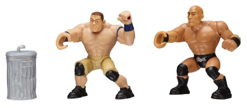 WWE Power Slammers The Rock and John Cena Action Figure Starter Pack