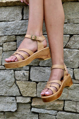 **PREORDER : DELIVERY LATE JAN/EARLY FEB ** SAGE LOW PLATFORM SANDAL - NUDE