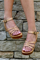 SAGE LOW PLATFORM SANDAL - NATURAL
