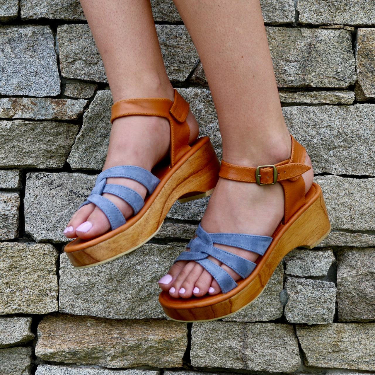 LIMITED EDITION: SAGE LOW PLATFORM SANDAL - ASH
