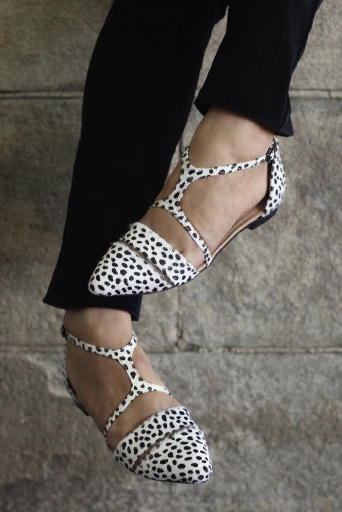 PREORDER : FIFI FLATS : SNOW LEOPARD - DELIVERY LATE APRIL