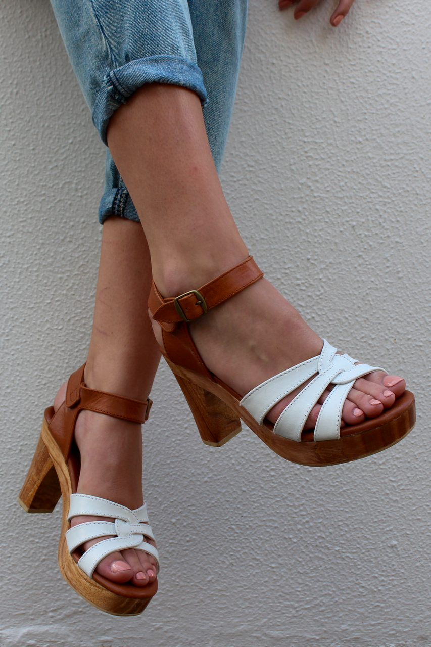 LIMITED EDITION SAGE WHITE FRONT/ TAN ANKLE