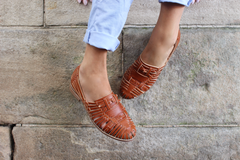 PREORDER : LA LACUNA SANDAL : TAN LEATHER - DELIVERY MID/END APRIL