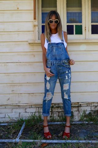 RIDE OR DIE DENIM OVERALL