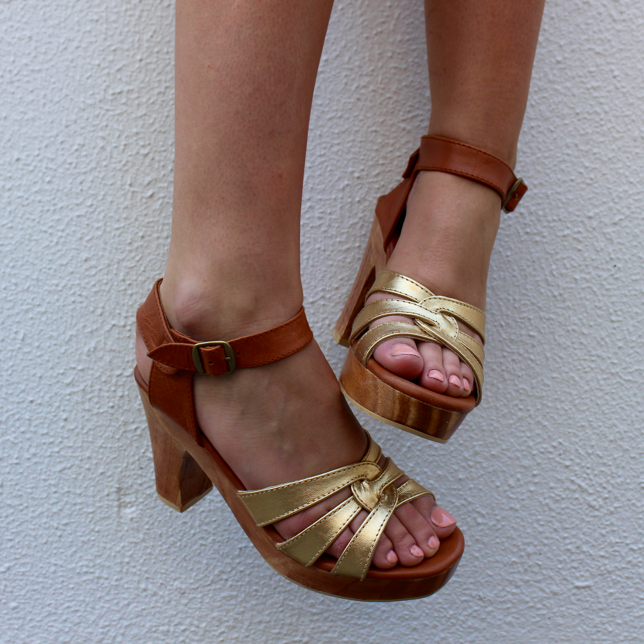 LIMITED EDITION SAGE GOLD FRONT/ TAN ANKLE