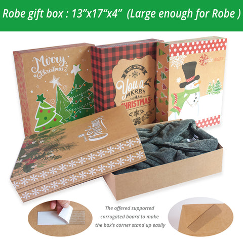 Christmas Gift Boxes With Lids.12 Kraft Christmas Gift Boxes With Lids For Clothes And 80