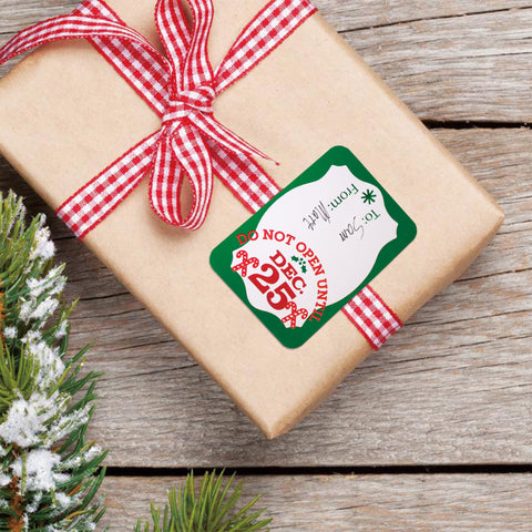 80 count foil christmas gift tags sticker 8 jumbo designs xmas