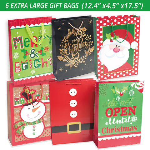 Christmas Gift Bags Bulk.24 Christmas Gift Bags Assorted Sizes With 60 Count