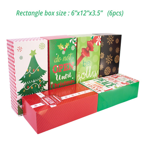Christmas Gift Boxes With Lids.14 Count Decorative Christmas Gift Boxes With Lids And 80