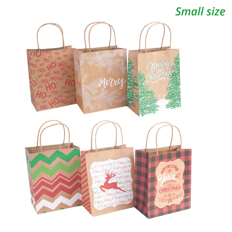 Christmas Gift Bags Bulk.24 Kraft Christmas Gift Bags Assorted Sizes With 60 Count