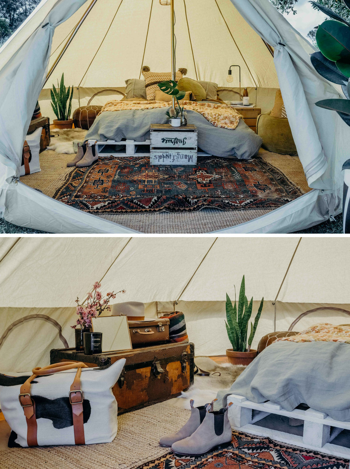 stying bell tent