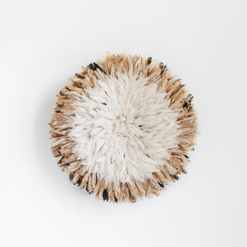 WHITE + NATURAL JUJU HAT - LARGE